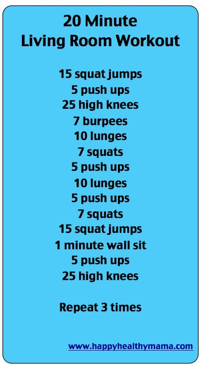 easy living room workout